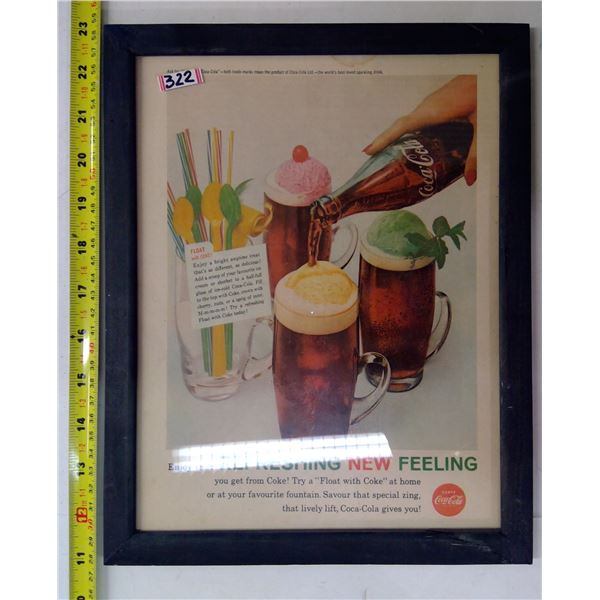 Framed Coca Cola Advertising