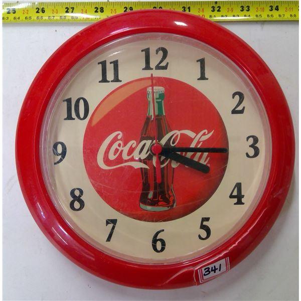 Coca Cola Clock - Plastic