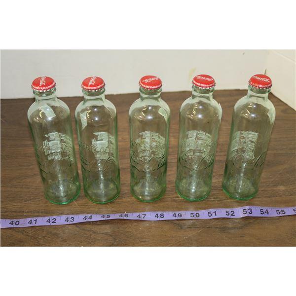 5 Vintage Coke Bottles
