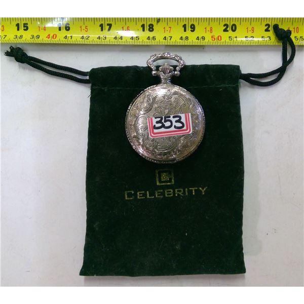 Celebrity Quartz Pocketwatch in Pouch