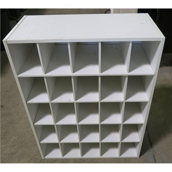 "Wooden Cubby Rack 32""×25""×12"""