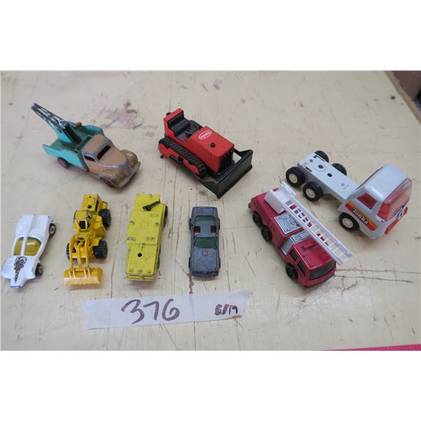 Hotwheels X4, Tonka X 3 and 1X Dinky Tow Truck Toys