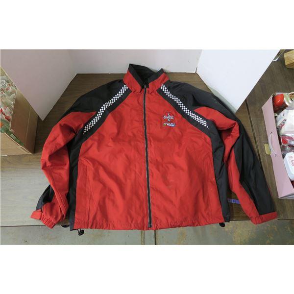 Coca Cola Themed Nascar Jacket, Size XL
