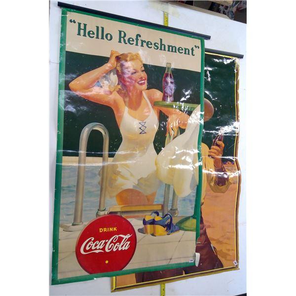 2 Coca-Cola Posters 1941, 1942