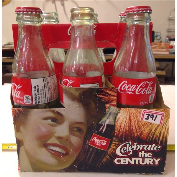 6 Pack Coca Cola Glass Bottles in Carry Case