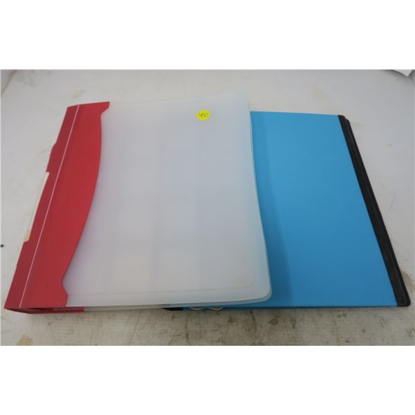 2X Coin Collecting Binders and 17X Coin Pocket Sleeves