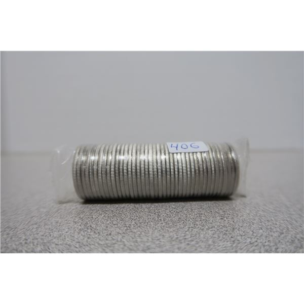 2000 Canadian Unciculated Roll ($10) of Commemorative Quarters