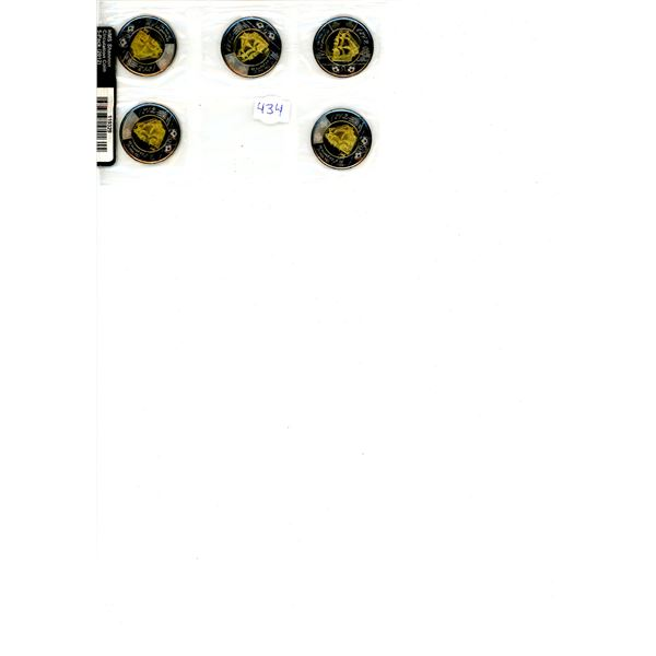 2012 Canadian Commemorative 5 Coin Set - HMS Shannon (Toonies $2)