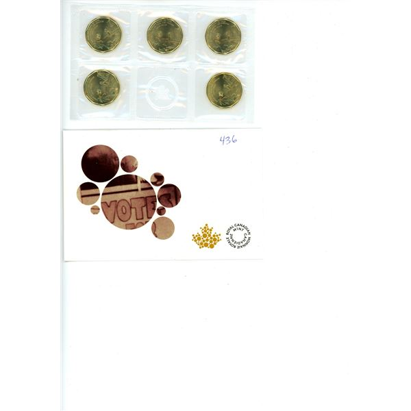 2015 Canadian Commemorative 5 Coin Set -  75th Anniversary of Women's Rights (Loonies)