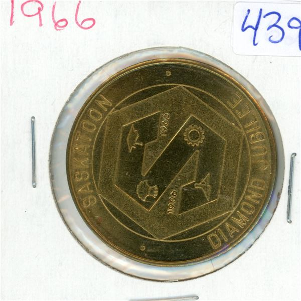 1966 Saskatoon Diamond Jubilee Trade Dollar