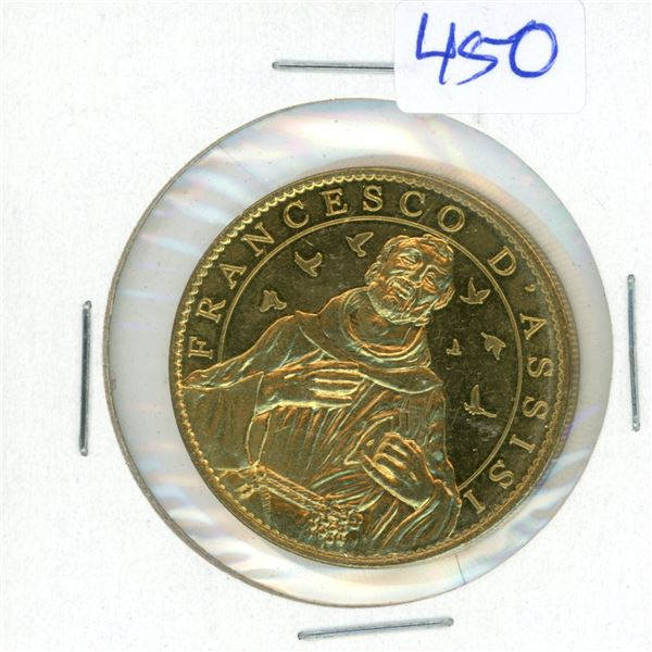 Francesco D'Assisi - Pape Francios Coin 32mm