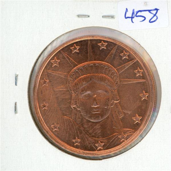 2012 USA BIG Penny 1oz .999 Fine Copper Coin - Statue of Liberty (38mm)