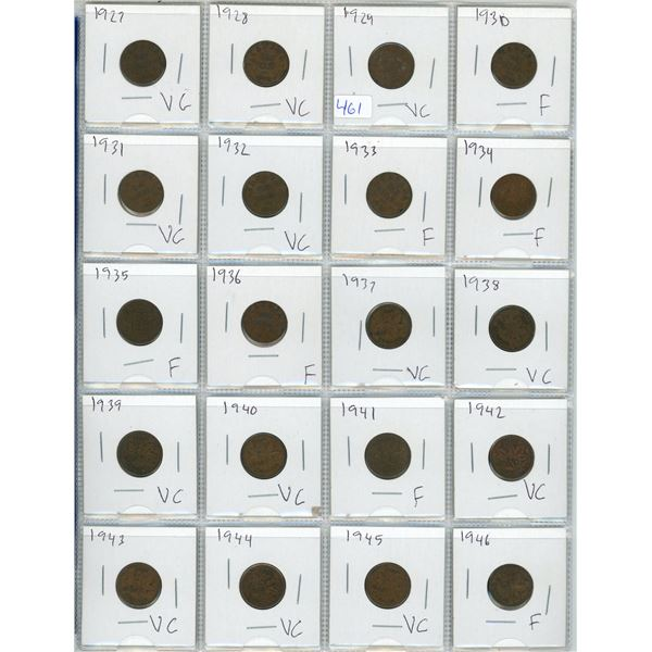 Coin Collector's Binderwith 87 Canadian Pennies from 1927-2012