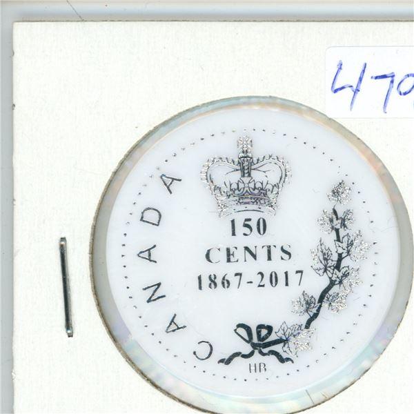 2017 Canadian Saskatoon Coin Club 150 Cent Plastic Token