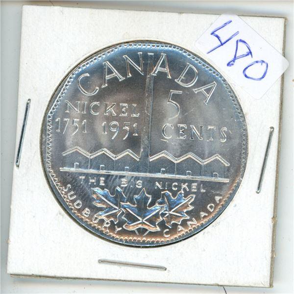 1951 Canadian Big Nickel