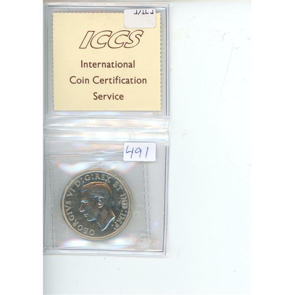 1947 Canadian Silver Dollar