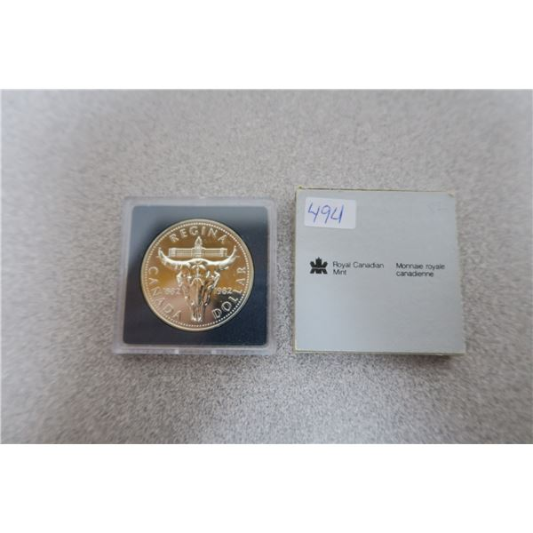 1982 Canadian Commemorative Regina Dollar