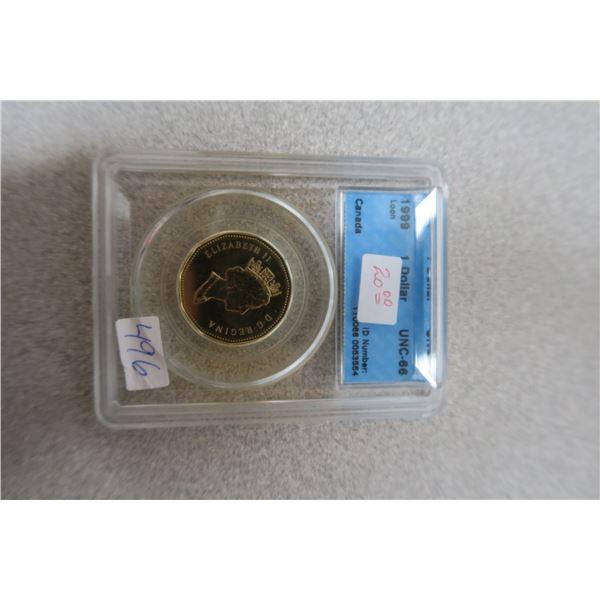 1996 Canadian Loon/Loonie Dollar Piece - UNC-66