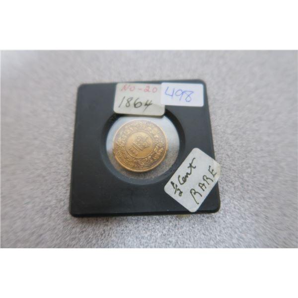 1864 Nova Scotia (Canadian)  1/2 cent Piece RARE