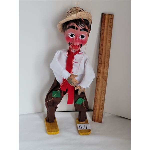 Marionette of a mexican man.