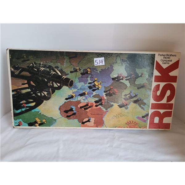Vintage 1975 to '80 RISK complete board game.