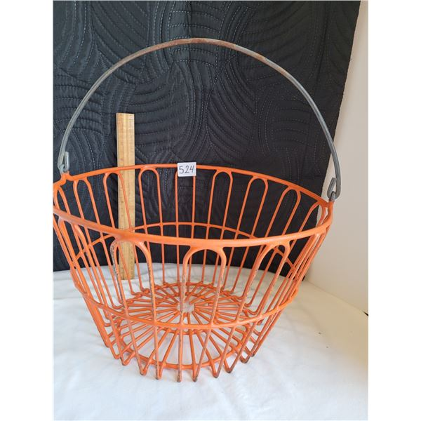 Mid century coated heavy wire egg basket.