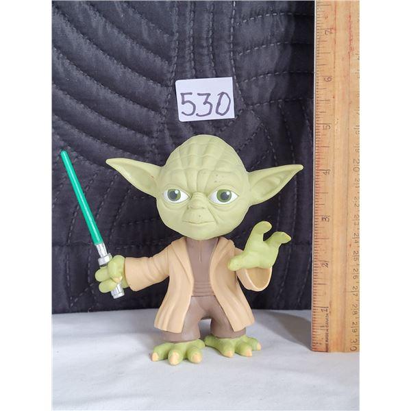 Yoda Bobble head, movable arms. Funko 2009 Star Wars Ultra Stylized master Yoda.