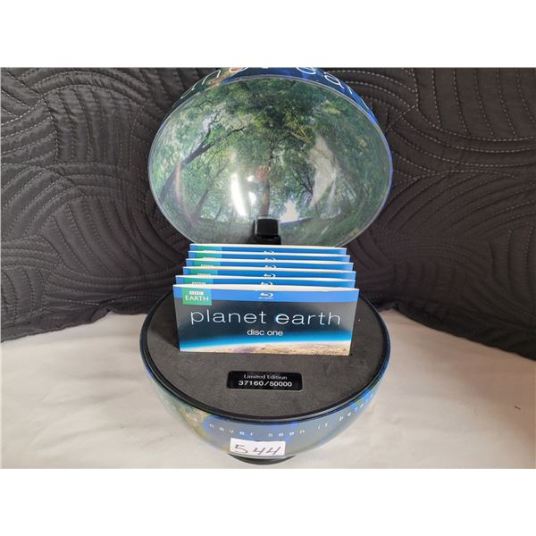 BBC Planet Earth Limited Edition DVD's in a display globe. #37160 of 50000 made.