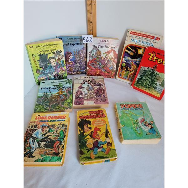 Vintage littles 1983 classics, Popeye 1980. HC 1968 Lone Ranger, Woody Woodpecker 1950.