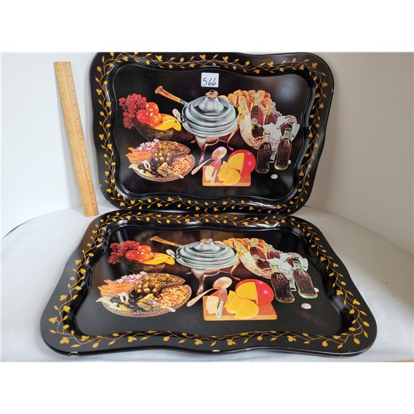 Set of 2 old Coca-Cola serving / bed trays.