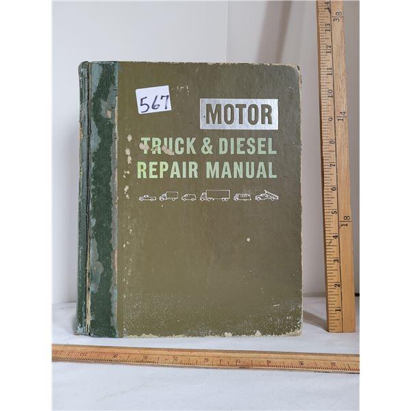 1963-'74  27th edition Motor Truck & Diesel repair manual.