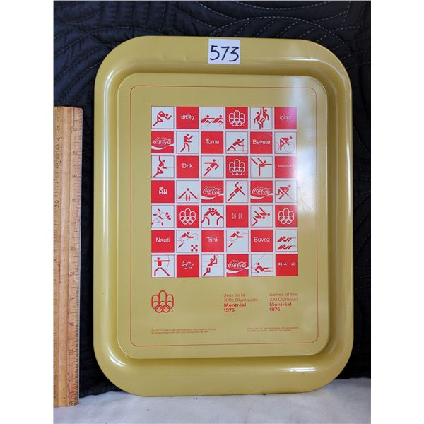 1975 Coca-Cola tray to commemorate the 1976 Montreal Olympic Games.