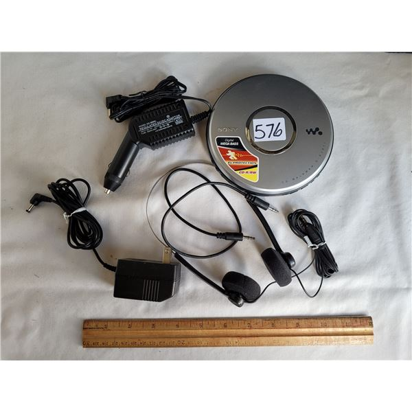 Sony Walkman disc player with all the accessories.