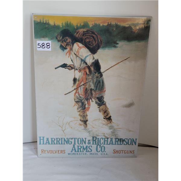 Harrington & Richardson Revolvers & Shotguns, tin sign.
