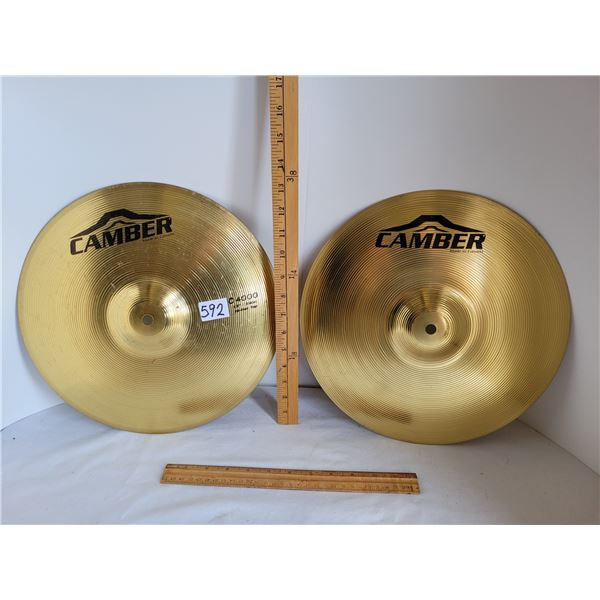 Caber Cymbals for a drum set.
