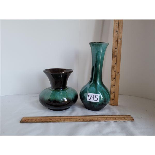1970's very nice Blue Mountain Vases.