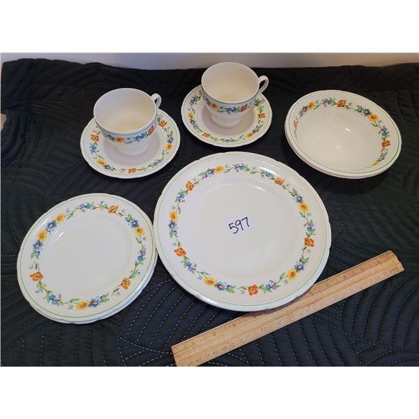 "1950's Vintage Swinnertons China, Staffordshire England ""Majestic Vellum"" for 2."