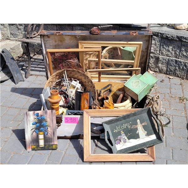 Very old trunk of junk.