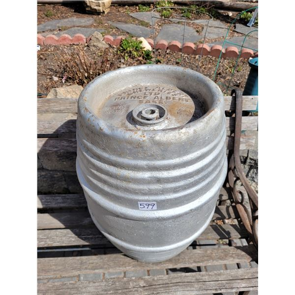 Historic Prince Albert Breweries beer keg.