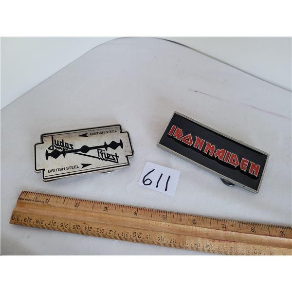 Iron Maiden & Judas Priest Collector belt buckles.