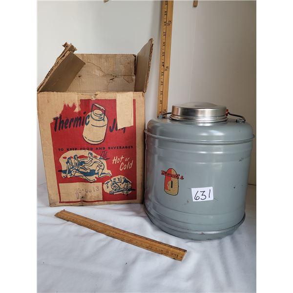Vintage Thermic Jug in original box from local Macleods store. Appears unused.