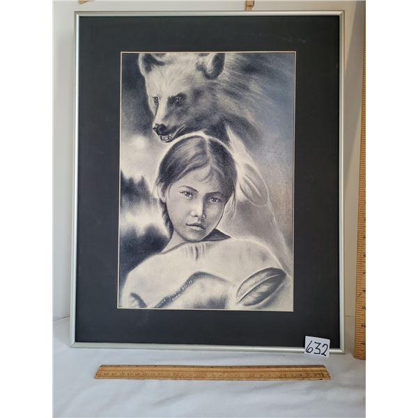 Beautiful print by Ojibwe artist Okima Kisnik.