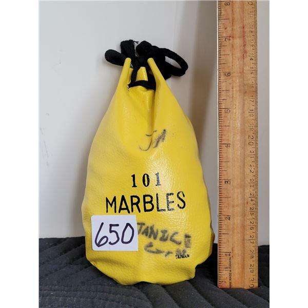 101 Marbles in a 1970's original bag.