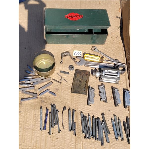Ammco  Honing Tool & cutting /abrasive tools in original steel tool box with extra tools.