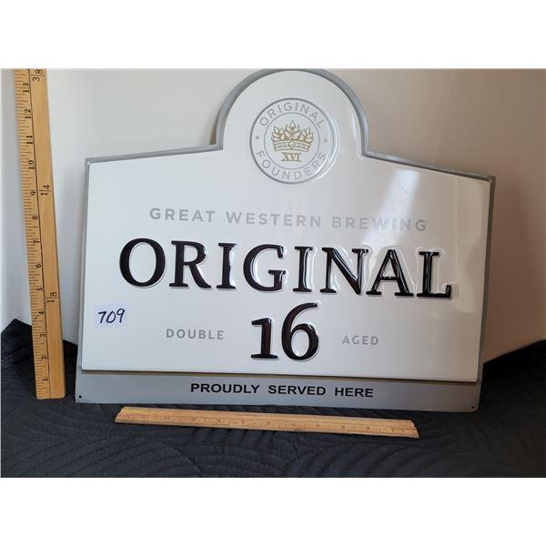 Great Western Original 16 tin sign.