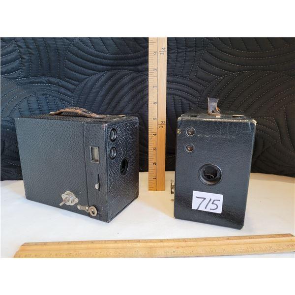 Antique Box cameras. Made in Canada