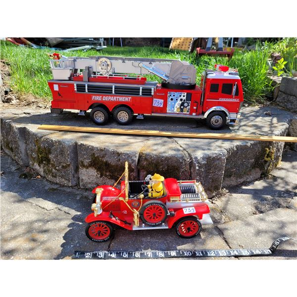 Fire Ladder truck, lifting ladder etc. 1984 vintage truck with dalmation and firefighter.