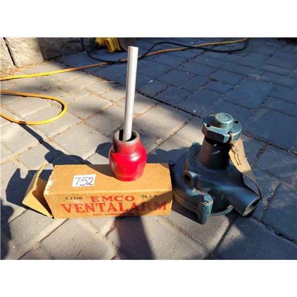 New water pump (possibly 1981-'87 Ford) & Emco Vent alarm.