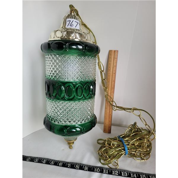 Old Green and white swag lamp.