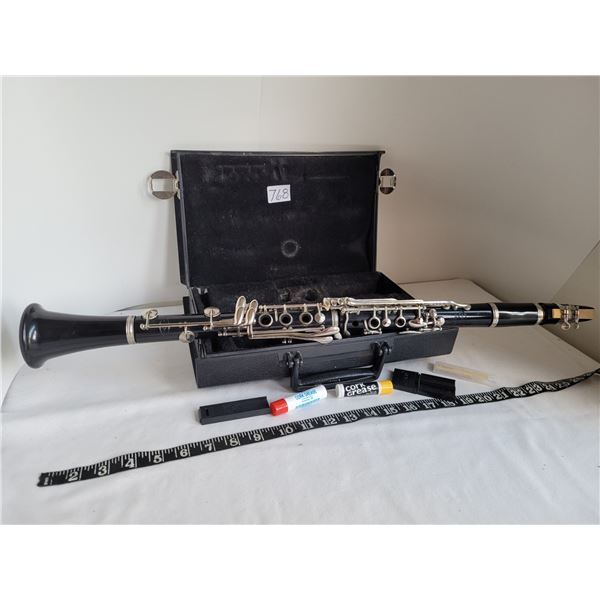 Vintage Veto Clarinet in case with reeds, cork grease, brush etc.